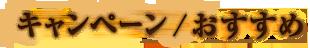 キャンペーン / おすすめ